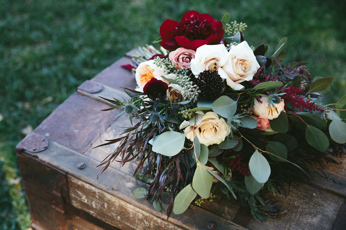 beautiful vintage wedding bouquet