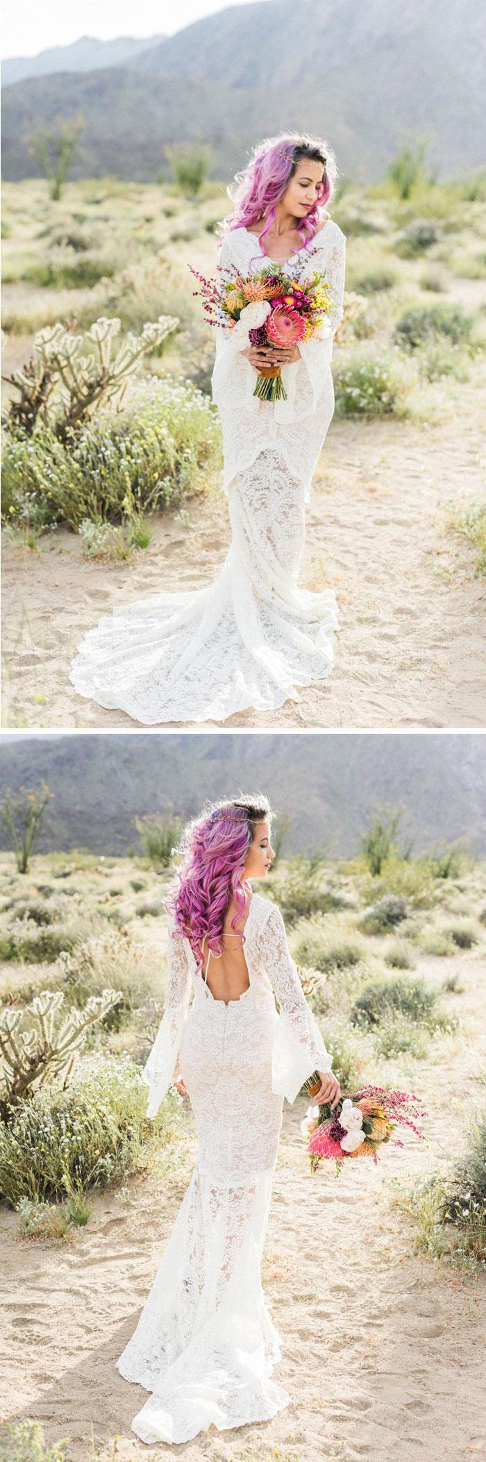 boho desert bride
