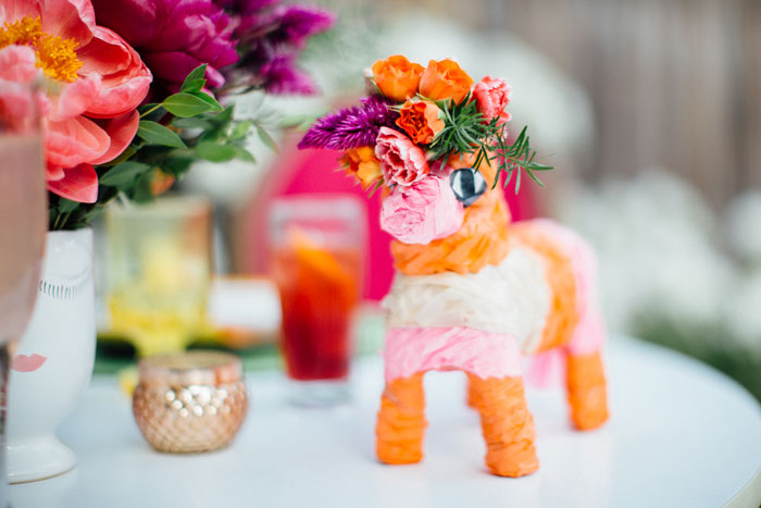 Mini pinata with floral crown by Winston & Main.