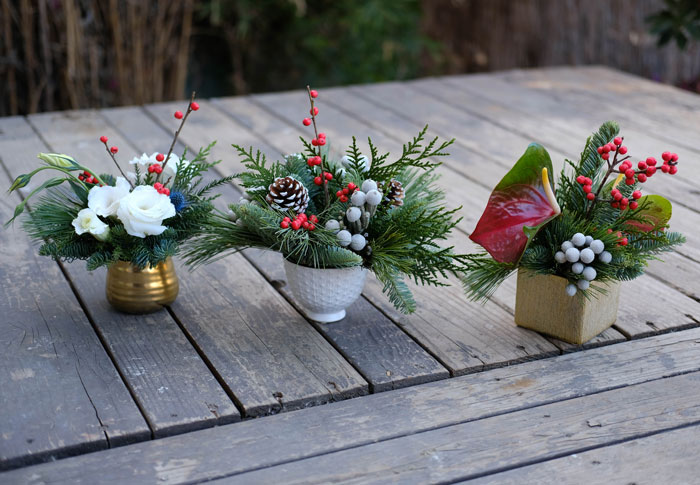 holidaycenterpiece trio