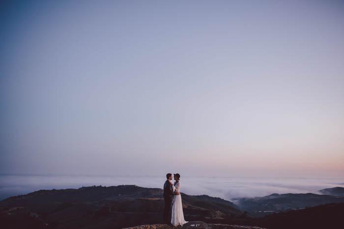 Boho Couple wedding portraits at Stonewall Ranch, Malibu overlooking the ocean