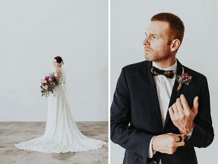 Sophisticated Bride and Groom Portraits.