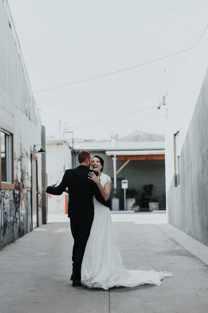 Romantic first dance at The Garage, Burbank.