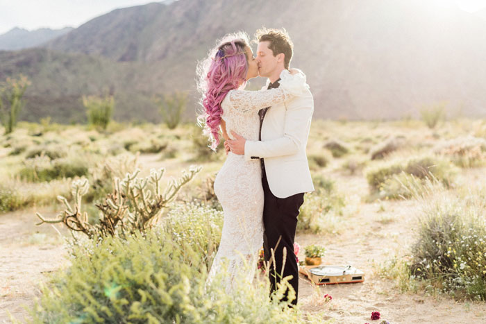 first kiss in the desert