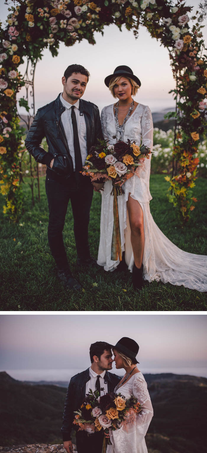 Romantic and Bohemian Fall Wedding Inspiration