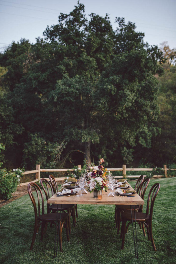 Fall tablescape at Stonewall Ranch