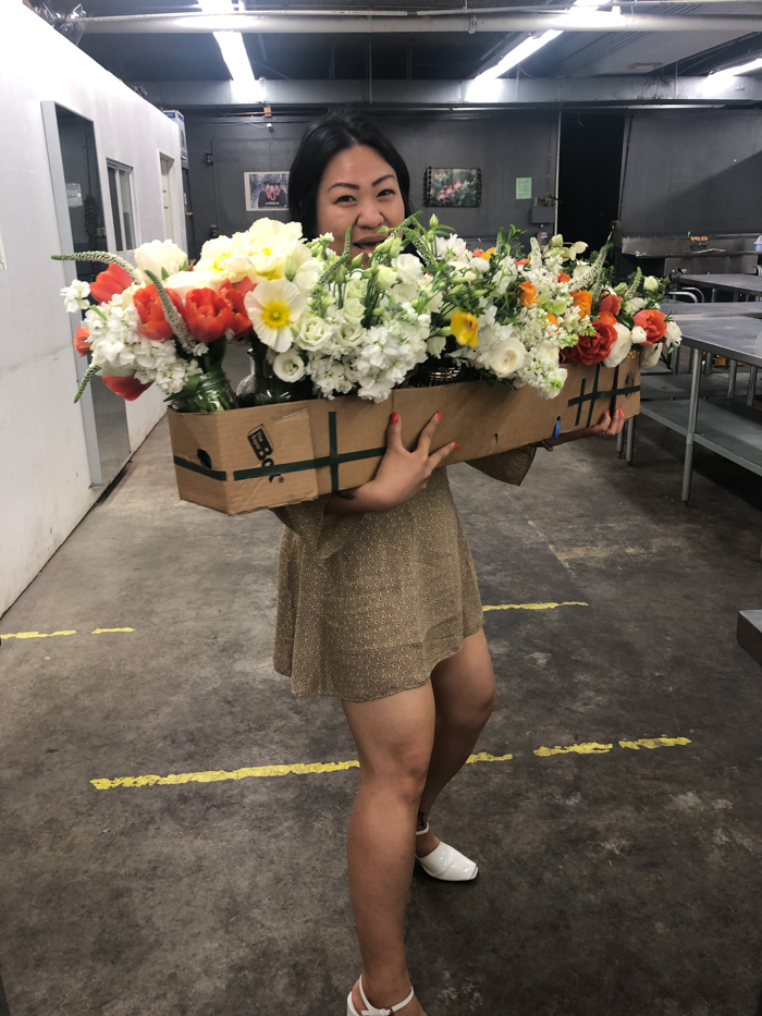 Anita  of Guided by Flowers helps us repurpose florals from an event to hospice patients.