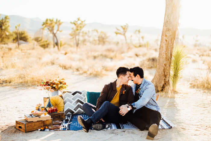 A beautiful Joshua Tree Elopement, featuring blooms by Winston & Main, and photographed by Michael Gomez Photo.